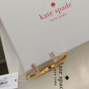 NIB Kate Spade lilac petal hinge bangle